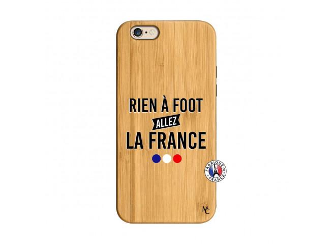 Coque iPhone 6/6S Rien A Foot Allez La France Bois Bamboo