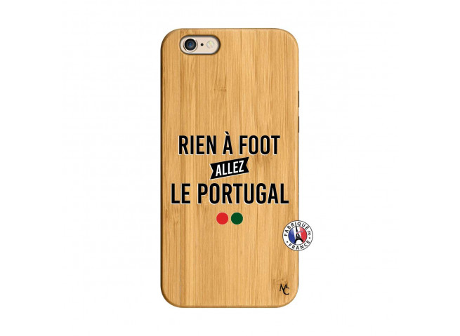 Coque iPhone 6/6S Rien A Foot Allez Le Portugal Bois Bamboo