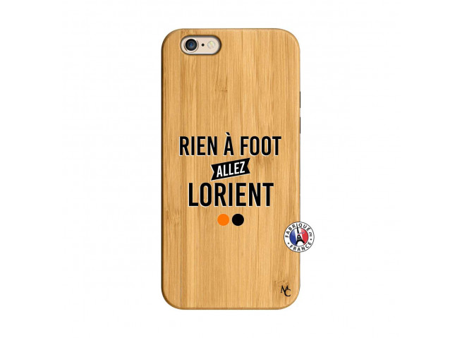 Coque iPhone 6/6S Rien A Foot Allez Lorient Bois Bamboo