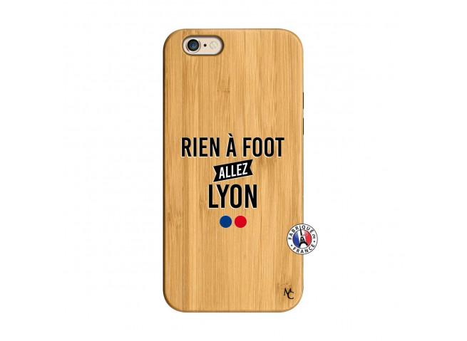 Coque iPhone 6/6S Rien A Foot Allez Lyon Bois Bamboo