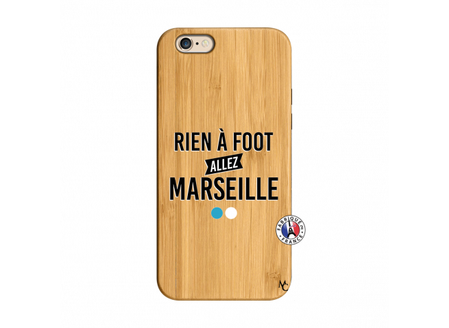 Coque iPhone 6/6S Rien A Foot Allez Marseille Bois Bamboo