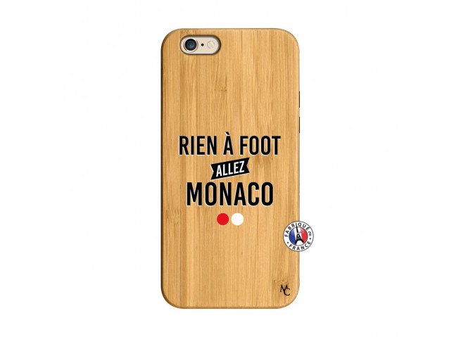 Coque iPhone 6/6S Rien A Foot Allez Monaco Bois Bamboo
