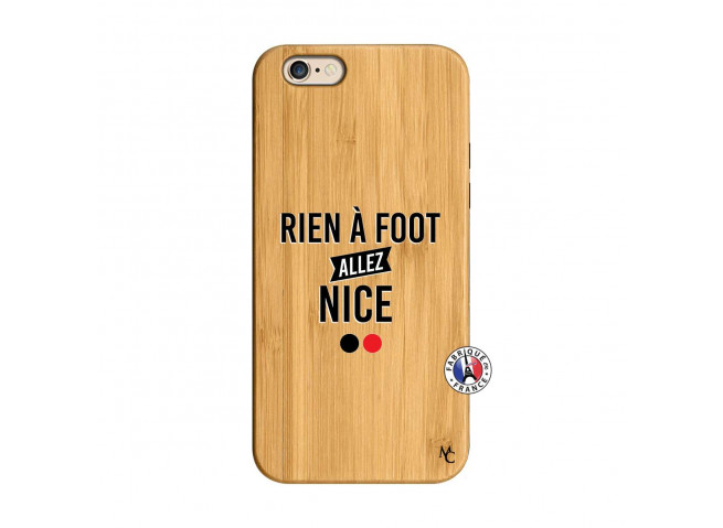 Coque iPhone 6/6S Rien A Foot Allez Nice Bois Bamboo
