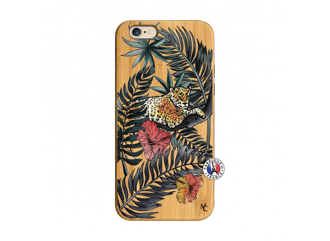 Coque iPhone 6/6S Leopard Tree Bois Bamboo