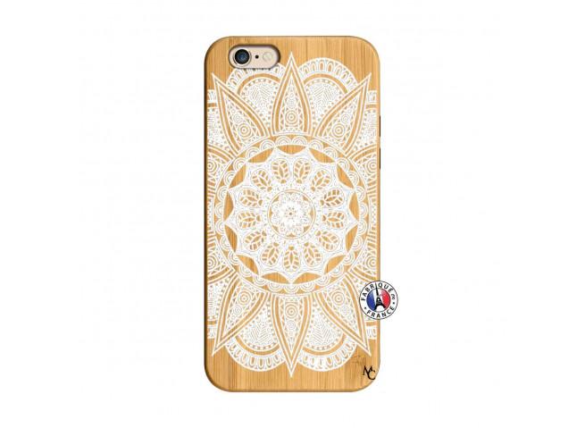Coque iPhone 6/6S White Mandala Bois Bamboo