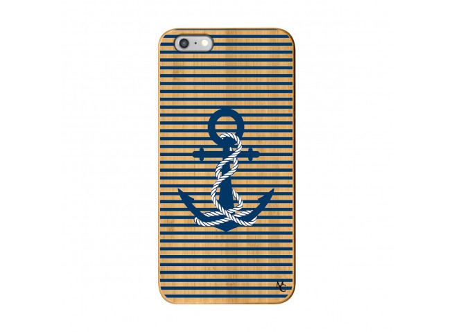 Coque iPhone 6Plus/6S Plus Ancre Bois Bamboo
