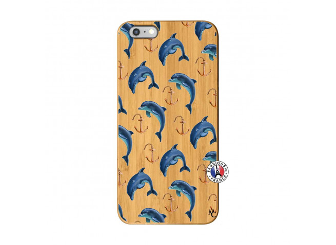 Coque Bois iPhone 6Plus/6S Plus Dauphins