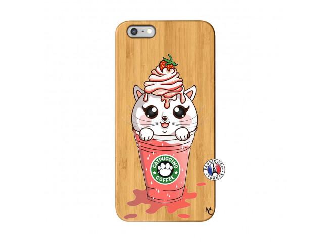 Coque Bois iPhone 6Plus/6S Plus Catpucino Ice Cream Smoothie