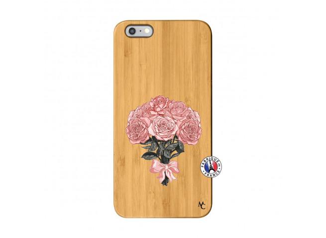 Coque iPhone 6Plus/6S Plus Bouquet de Roses Bois Bamboo