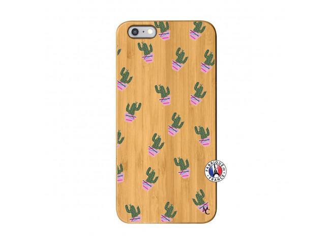 Coque iPhone 6Plus/6S Plus Cactus Pattern Bois Bamboo