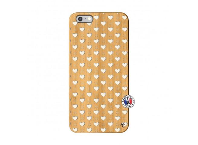 Coque iPhone 6Plus/6S Plus Little Hearts Bois Bamboo
