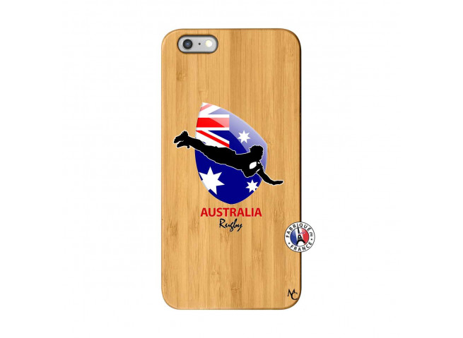 Coque iPhone 6Plus/6S Plus Coupe du Monde Rugby-Australia Bois Bamboo