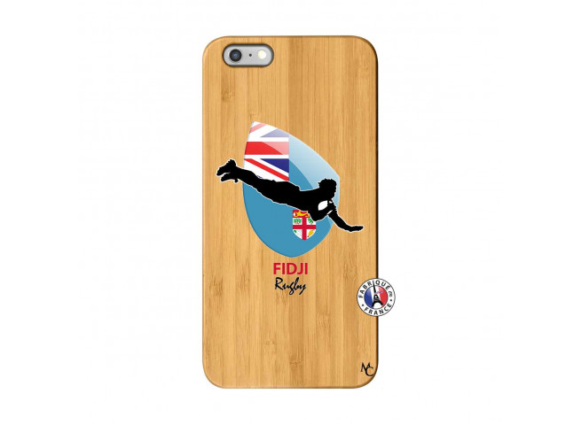 Coque iPhone 6Plus/6S Plus Coupe du Monde Rugby Fidji Bois Bamboo