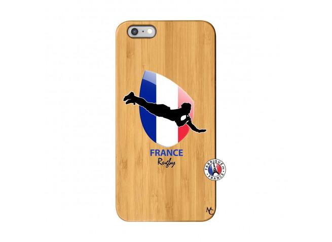 Coque iPhone 6Plus/6S Plus Coupe du Monde de Rugby-France Bois Bamboo