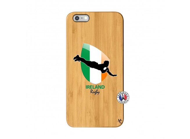 Coque iPhone 6Plus/6S Plus Coupe du Monde Rugby-Ireland Bois Bamboo