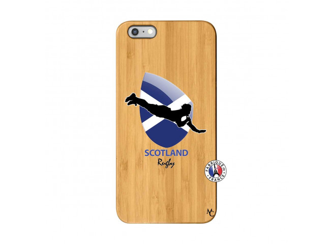 Coque iPhone 6Plus/6S Plus Coupe du Monde Rugby-Scotland Bois Bamboo