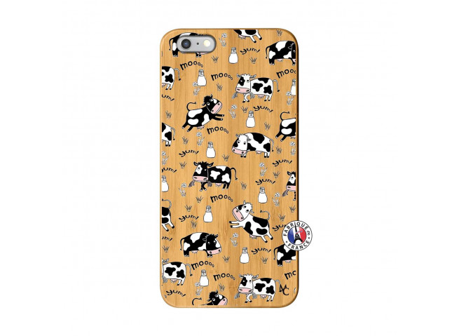 Coque iPhone 6Plus/6S Plus Cow Pattern Bois Bamboo