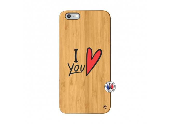 Coque iPhone 6Plus/6S Plus I Love You Bois Bamboo