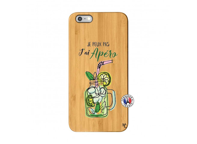 Coque iPhone 6Plus/6S Plus Je peux pas J'ai Apéro Bois Bamboo