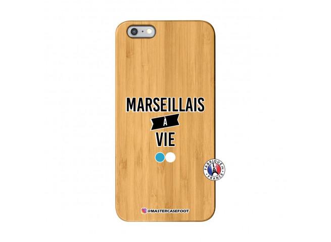 Coque iPhone 6Plus/6S Plus Marseillais à Vie Bois Bamboo