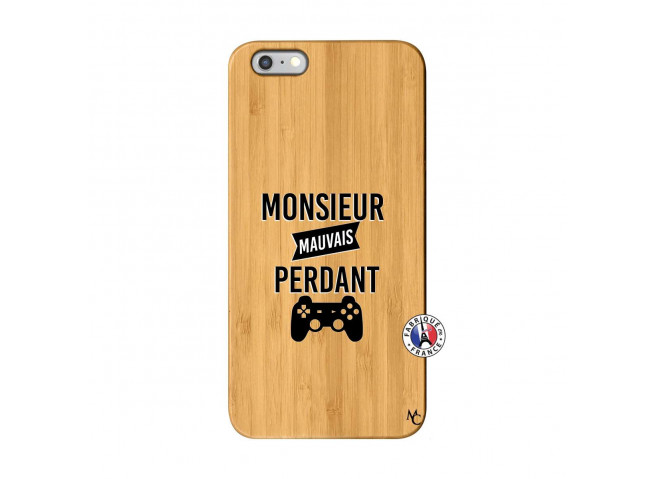 Coque iPhone 6Plus/6S Plus Monsieur Mauvais Perdant Bois Bamboo