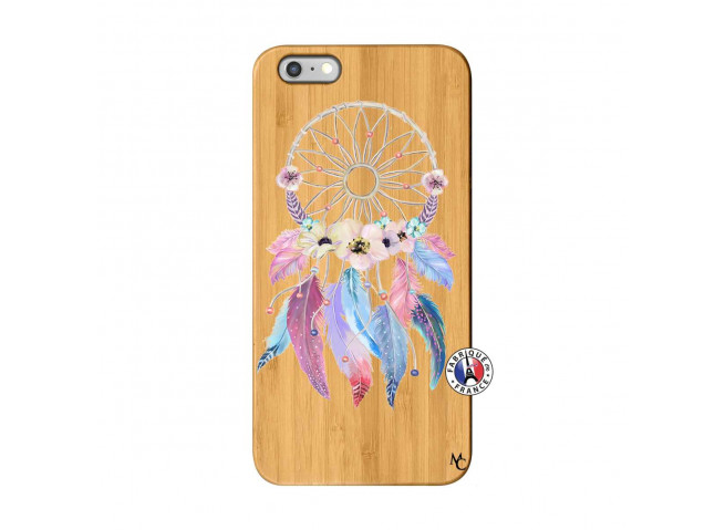 Coque iPhone 6Plus/6S Plus Multicolor Watercolor Floral Dreamcatcher Bois Bamboo