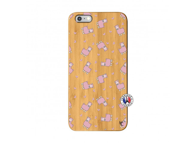 Coque iPhone 6Plus/6S Plus Petits Moutons Bois Bamboo