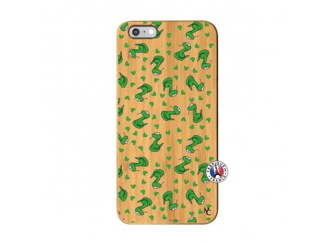 Coque iPhone 6Plus/6S Plus Petits Serpents Bois Bamboo