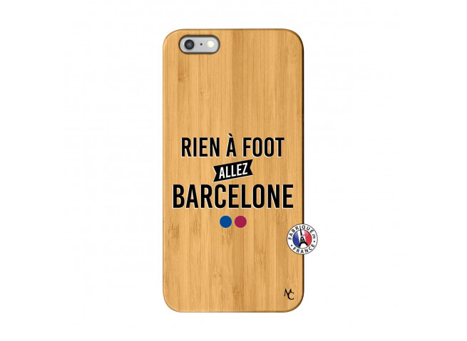 Coque iPhone 6Plus/6S Plus Rien A Foot Allez Barcelone Bois Bamboo