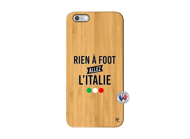 Coque iPhone 6Plus/6S Plus Rien A Foot Allez L'Italie Bois Bamboo