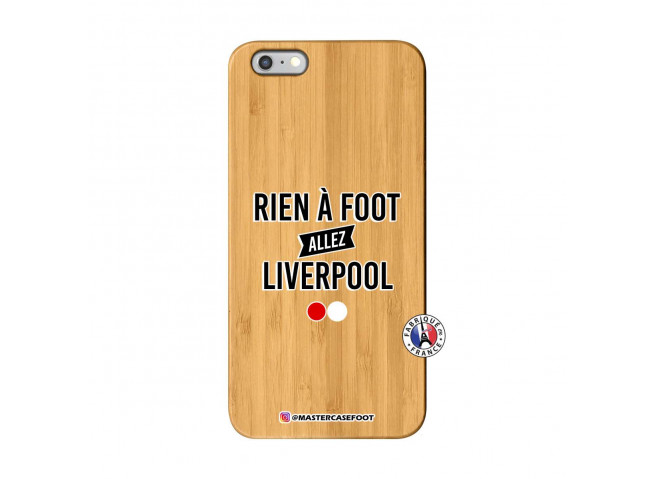 Coque iPhone 6Plus/6S Plus Rien A Foot Allez Liverpool Bois Bamboo
