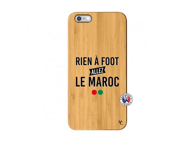 Coque iPhone 6Plus/6S Plus Rien A Foot Allez Le Maroc Bois Bamboo