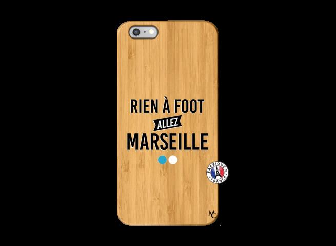 Coque iPhone 6Plus/6S Plus Rien A Foot Allez Marseille Bois Bamboo