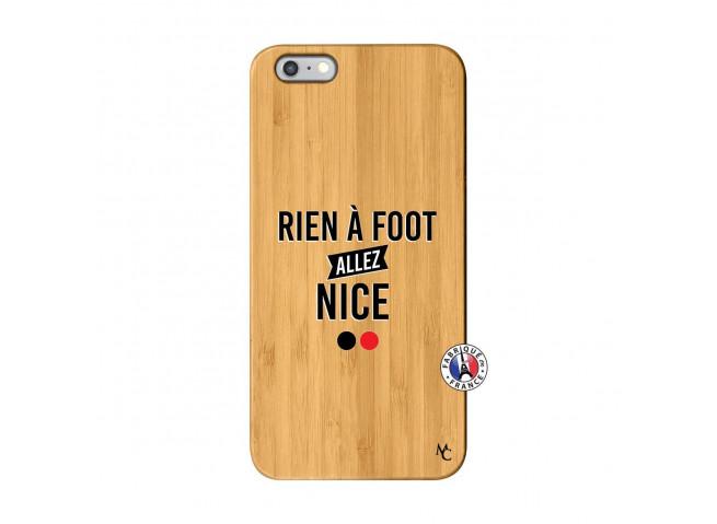 Coque iPhone 6Plus/6S Plus Rien A Foot Allez Nice Bois Bamboo