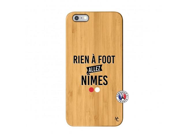 Coque iPhone 6Plus/6S Plus Rien A Foot Allez Nimes Bois Bamboo