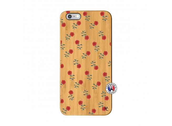 Coque iPhone 6Plus/6S Plus Rose Pattern Bois Bamboo
