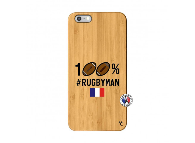 Coque iPhone 6Plus/6S Plus 100% Rugbyman Bois Bamboo