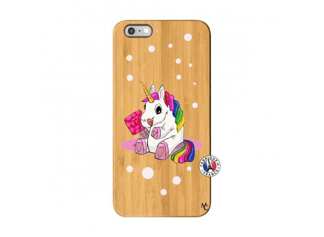 Coque iPhone 6Plus/6S Plus Sweet Baby Licorne Bois Bamboo