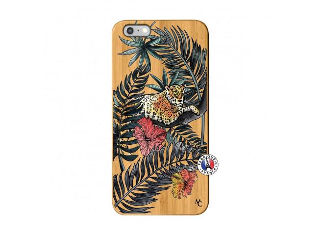 Coque iPhone 6Plus/6S Plus Leopard Tree Bois Bamboo