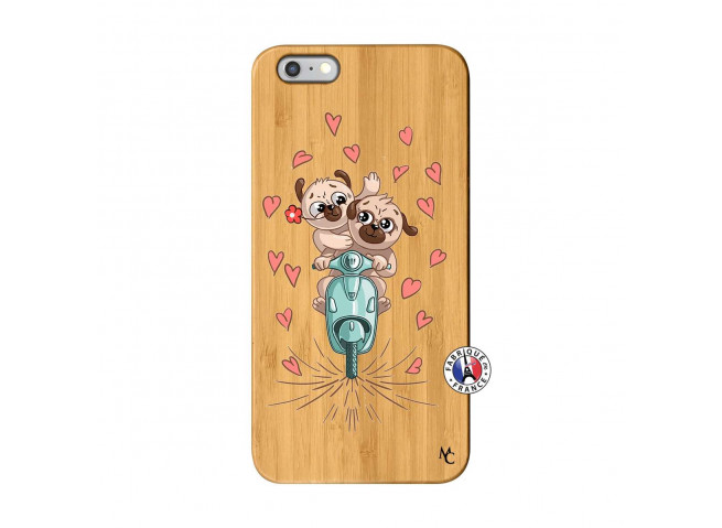 Coque iPhone 6Plus/6S Plus Puppies Love Bois Bamboo