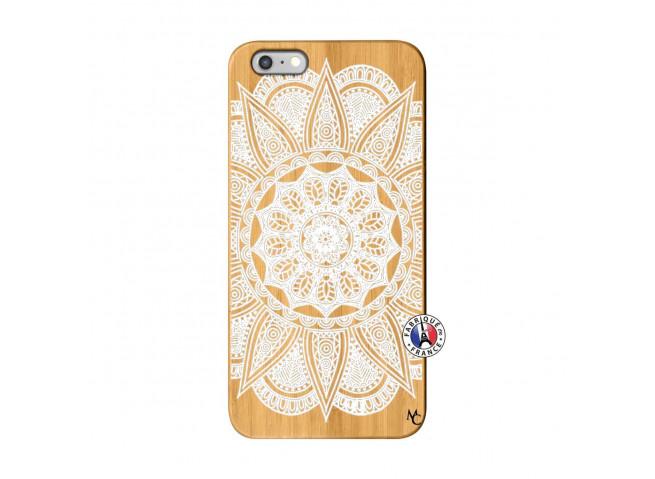 Coque iPhone 6Plus/6S Plus White Mandala Bois Bamboo