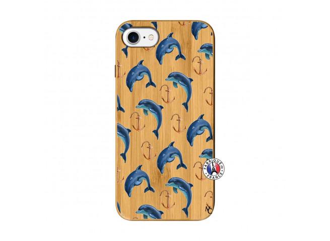 Coque Bois iPhone 7/8 Dauphins