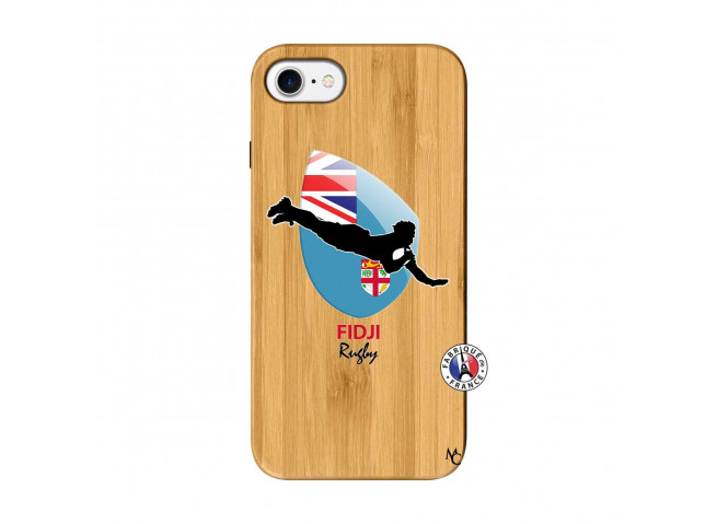 Coque iPhone 7/8 Coupe du Monde Rugby Fidji Bois Bamboo