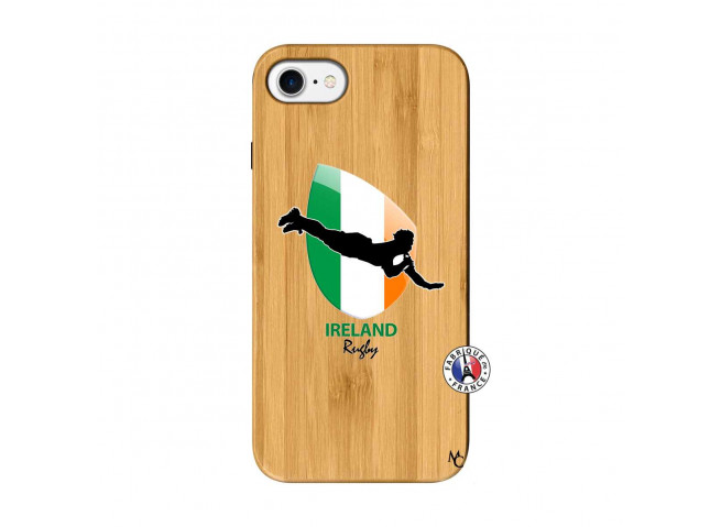 Coque iPhone 7/8 Coupe du Monde Rugby-Ireland Bois Bamboo