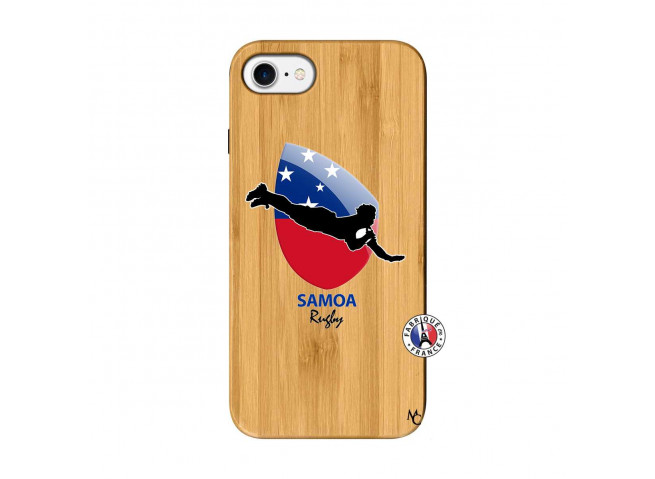 Coque iPhone 7/8 Coupe du Monde Rugby-Samoa Bois Bamboo
