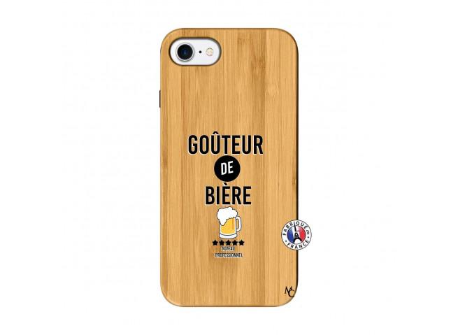 Coque iPhone 7/8 Gouteur De Biere Bois Bamboo