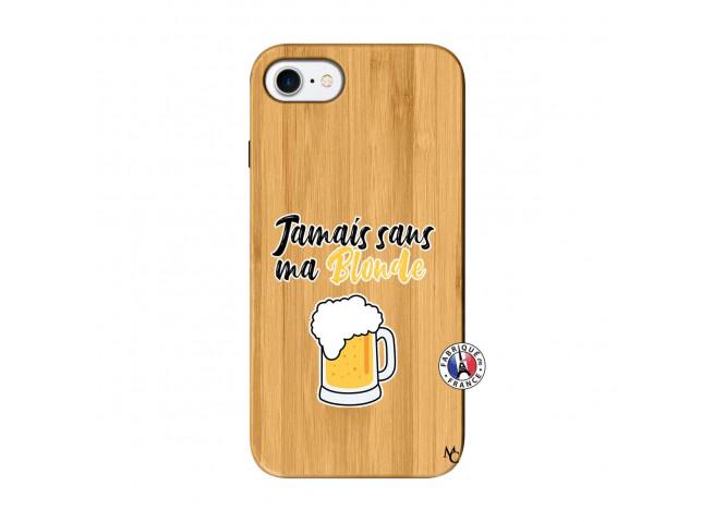 Coque iPhone 7/8 Jamais Sans Ma Blonde Bois Bamboo