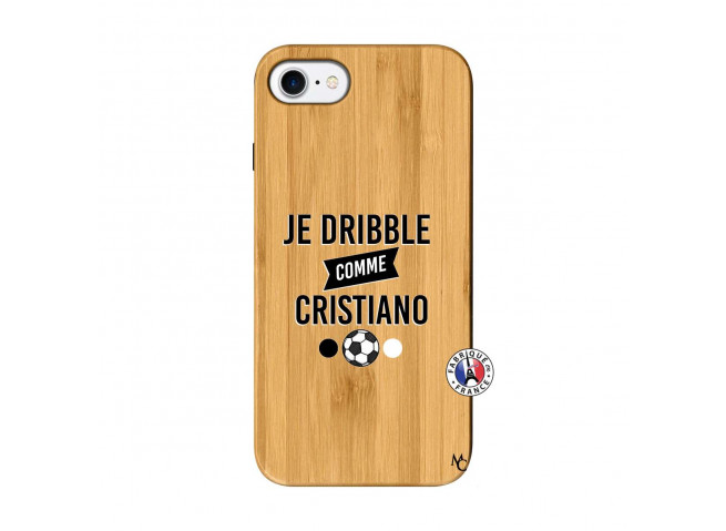 Coque iPhone 7/8 Je Dribble Comme Cristiano Bois Bamboo