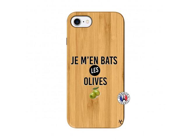 Coque iPhone 7/8 Je M En Bas Les Olives Bois Bamboo