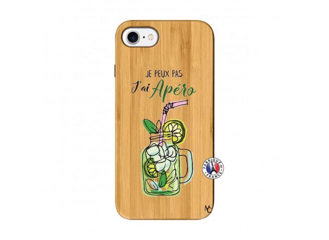 Coque iPhone 7/8 Je peux pas J'ai Apéro Bois Bamboo
